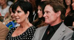 TV Personalities Kris Jenner (L) and Bruce Jenner (R)