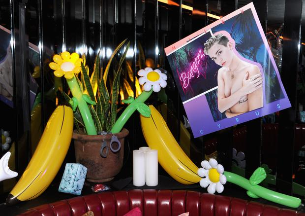 NEW YORK, NY - OCTOBER 08: A general view of atmosphere at Miley Cyrus' Official Album Release Party for