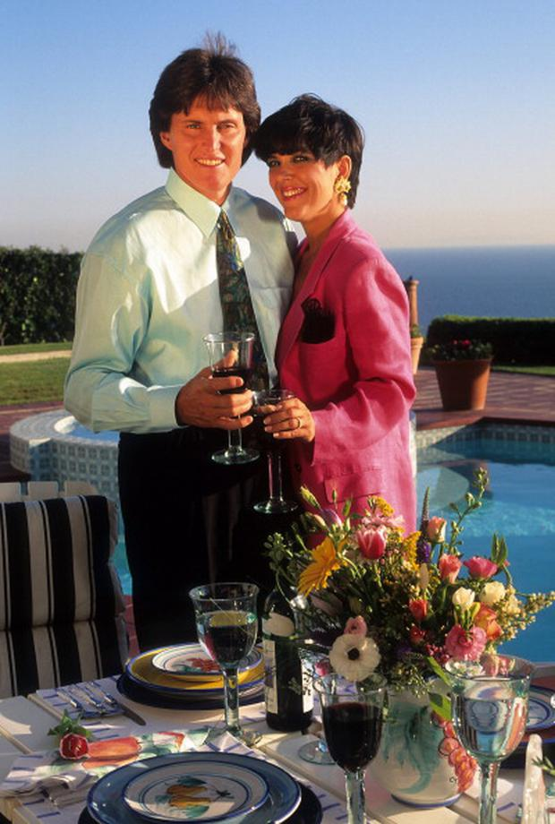 LOS ANGELES - 1991: Kris Jenner and Bruce Jenner pose for a portrait in 1991 in Los Angeles, California. (Photo by Donaldson Collection/Getty Images)