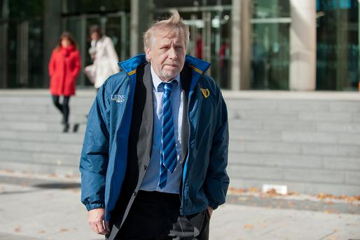 Paul Richardson leaving Dublin Circuit Criminal Court yesterday