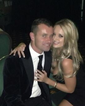 Shay Given and girlfriend Becky Gibson