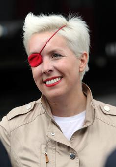 Maria De Villota during practice at the Circuit de Catalunya, Barcelona in May this year