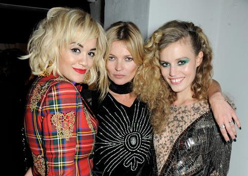 Rita Ora, Kate Moss and Georgia May Jagger attend the Rimmel London 180 Years of Cool party at the London Film Museum on October 10, 2013 in London, England. (Photo by David M. Benett/Getty Images for Rimmel London)