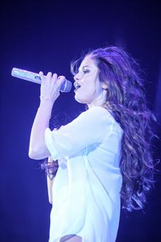 Selena Gomez performs at the Patriot Center on October 10, 2013 in Washington, DC. (Photo by Kris Connor/Getty Images)