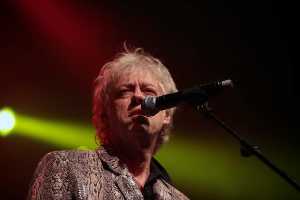 Bob Geldof and the Boomtown Rats playing live at Vicar Street in October last year