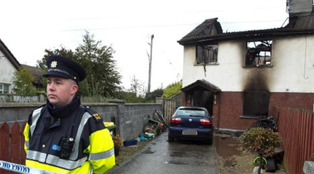The scene of the fatal house fire in Monastery Grove, Enniskerry, Co Wicklow.