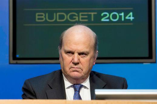 Finance Minister Michael Noonan was forced to defend his decision to hike the cost of beer, cider and a measure of spirits by 10 cent, and a bottle of wine by 50 cent.