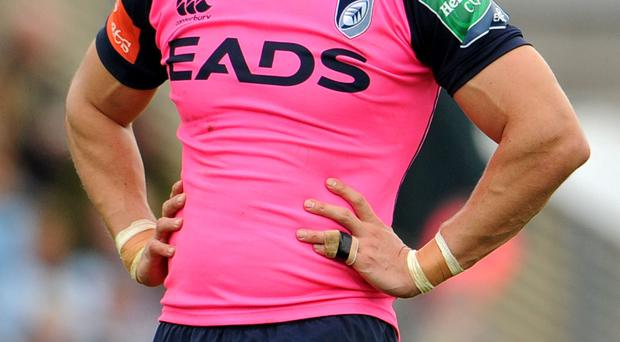 Cardiff Blues Flanker Sam Warburton during the Heineken Cup match at Sandy Park, Exeter