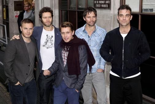 Robbie Williams with Take That
