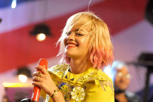 Musician Rita Ora performs at the iHeartRadio LIVE: Rita Ora UK Rocks presented by Bloomingdale's on October 17, 2013 in New York City. (Photo by Dave Kotinsky/Getty Images for Clear Channel Media + Entertainment)