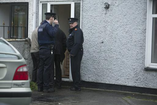 Scene of the assualt at 27 Knockmore Grove (house on left) where a chinese man was attacked by Four men and recieved Head injuries