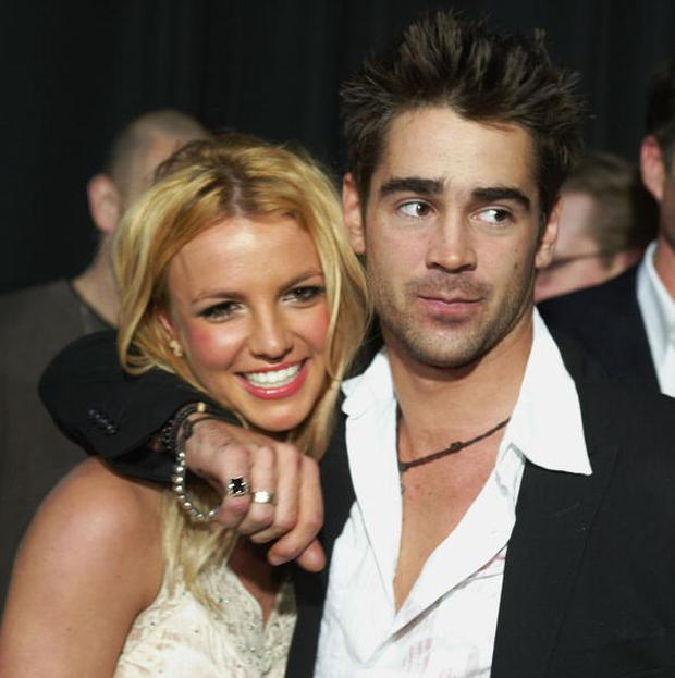 Singer Britney Spears and actor Colin Farrell