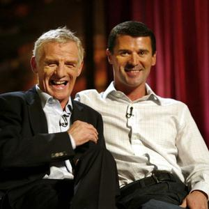 Roy Keane with Eamon Dunphy after the publication of Keane's biography