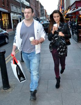 Irish rugby player Cian Healy and girlfriend Holly Carpenter are taking a shopping day