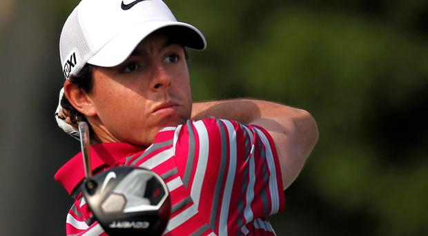 Rory McIlroy tees off on the 10th hole during the BMW Masters 2013 golf tournament at Lake Malaren Golf Club in Shanghai