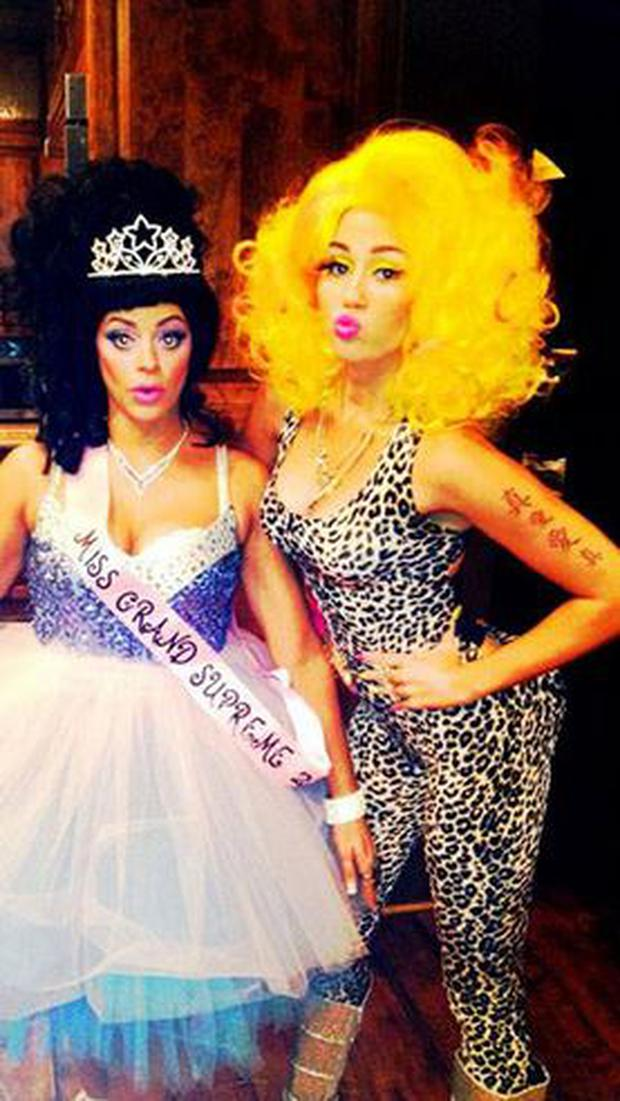 Miley Cyrus first began toying with controversy when she dressed up as fellow singer Nicki Minaj last year. (Twitter/MileyCyrus)
