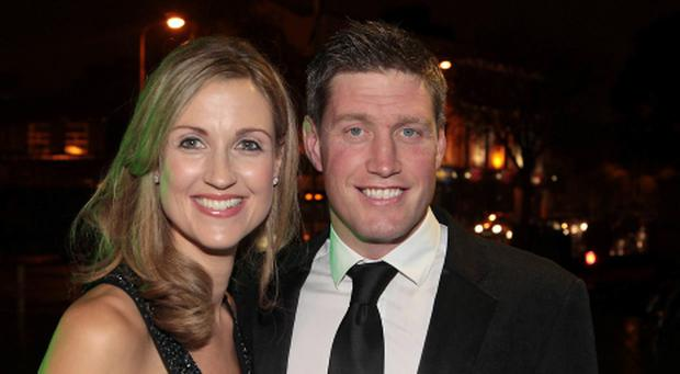 Ronan O gara and wife Jessica at The Ronan O Gara Testimonial Dinner at City Hall Cork Pictures:Brian mcEvoy No Repro fee for one use