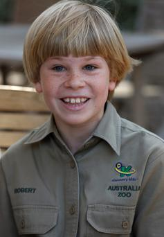 Robert Irwin, 9 years old, the son of the late Stephen Irwin, Australias Crocodile Hunter, is following his fathers footsteps