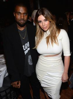 Kanye West and TV personality Kim Kardashian