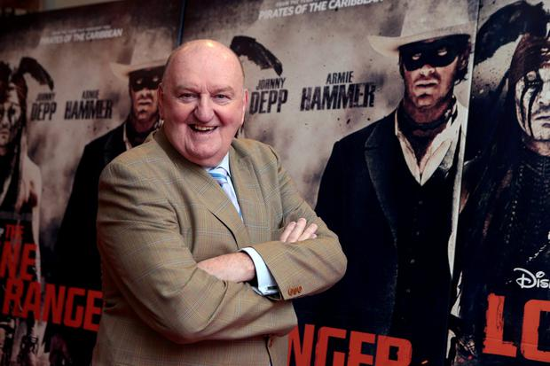 6/8/13 George Hook at the Irish Premiere of The Lone Ranger, at the Savoy cinema in Dublin. Picture:Arthur Carron/Collins