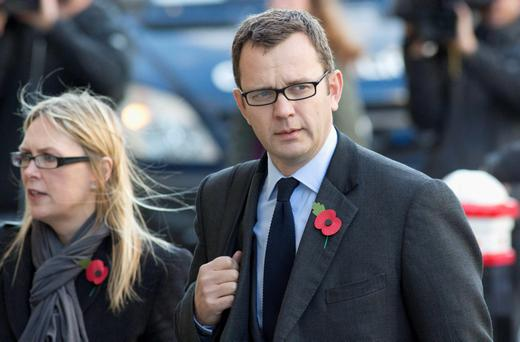 Former News of the World editor Andy Coulson arrives at the Old Bailey courthouse in London today