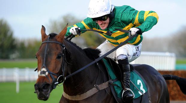 Eastlake ridden by Tony McCoy wins The Weatherbys Hamilton Insurance Handicap Steeple Chase, during the Matalan Family Funday at Aintree Racecourse at the weekend