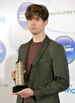 James Blake arriving at the Barclaycard Mercury Music Prize ceremony at the Roundhouse.