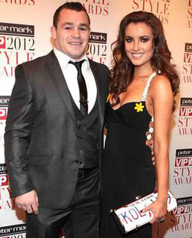 Cian Healy and girlfriend Holly Carpenter will be in attendance