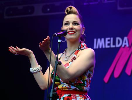 Studio based programme 'The Imelda May Show', will see Irish acts perform sets and chat about snare drums and bass guitars with May. Pictures: G. McDonnell / VIPIRELAND.COM