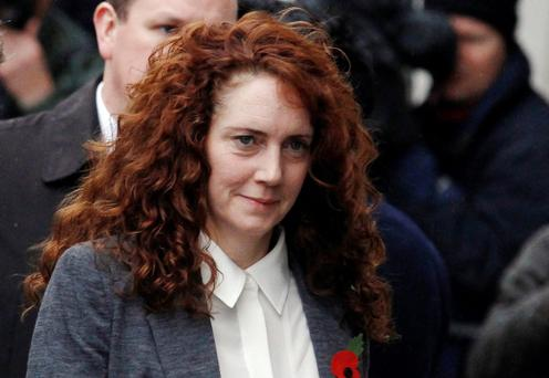 Former News International Chief Executive Rebekah Brooks arrives at the Old Bailey courthouse in London today
