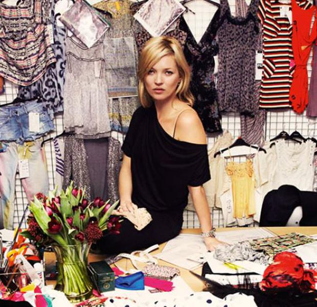 World-renowned model Kate Moss works with Topshop. (Topshop)
