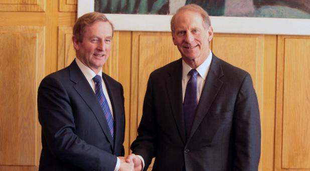 Taoiseach Enda Kenny (left) meets Former US diplomat Dr Richard Haass at Government Buildings in Dublin.
