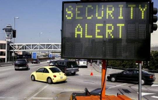 SECURITY INCREASED AT LOS ANGELES AIRPORT
