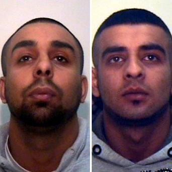 Mohammed Fazal (left) and Zafran Ali (right), two drug dealers who have been given lengthy jail sentences after the smell of their product led to police uncovering their near £500,000 haul.