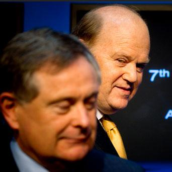 DECISION TIME: Public Expenditure Minister Brendan Howlin and Finance Minister Michael Noonan