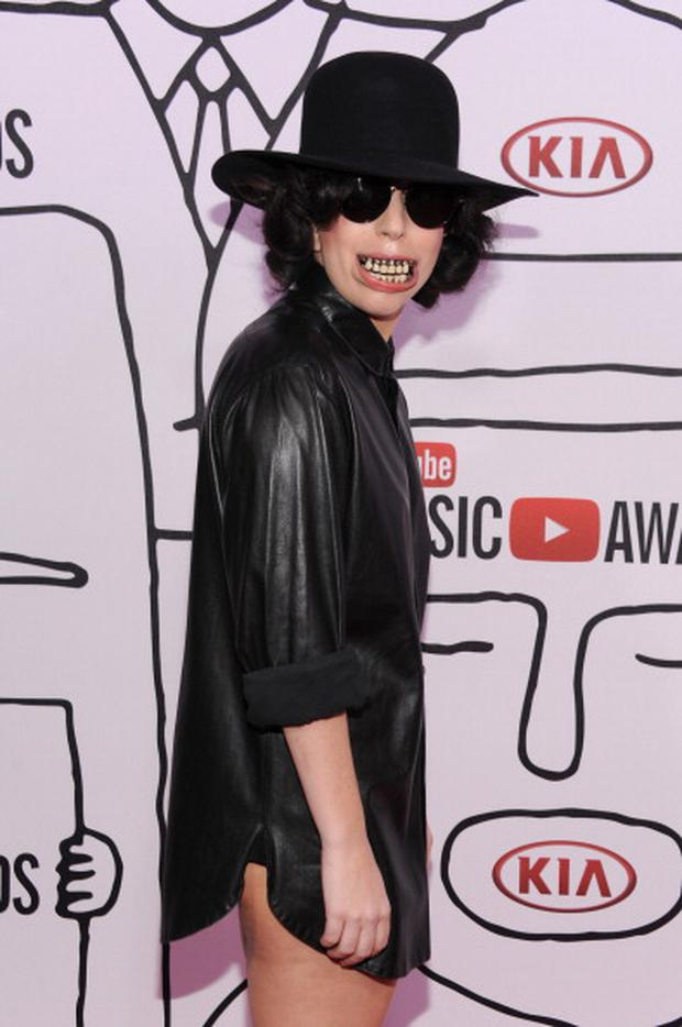 NEW YORK, NY - NOVEMBER 03: Lady Gaga attends the 2013 YouTube Music awards at Pier 36 on November 3, 2013 in New York City. (Photo by Dimitrios Kambouris/Getty Images)