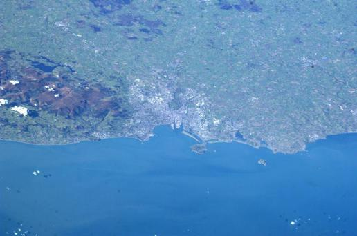 Can you spot the spire? Dublin snapped from the International Space Station. (Photo: Luca Parmitano)