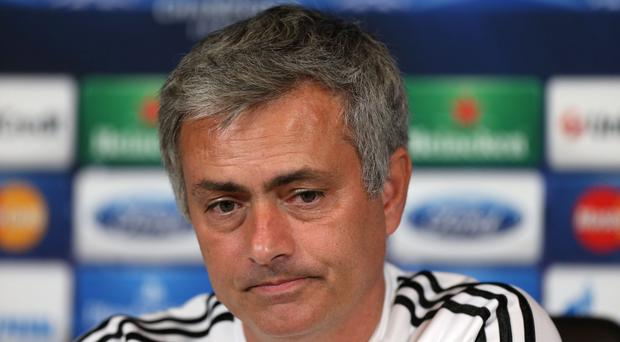 Chelsea's manager Jose Mourinho during the press conference at Cobham Training Ground, Stoke D'abernon