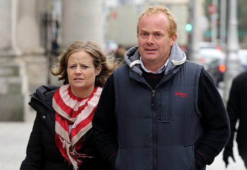 Catherine and Martin Kenny, of Ballyduff, Co. Waterford, leaving court