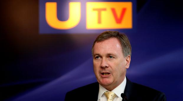 Group Chief Executive of UTV Media plc John McCann speaking a at a press conference in the Merrion Hotel, Dublin