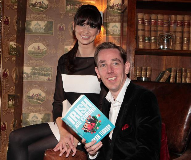 Aoibhinn Ni Shuilleabhain and Ryan Tubridy at the launch of Ryan Tubridy's book
