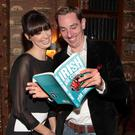 Aoibhinn Ni Shuilleabhain joins her partner Ryan Tubridy at the launch of his book