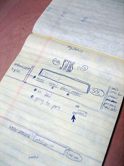Original Twitter sketch from co-founder Jack Dorsey