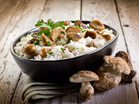 Try something new? Baked mushroom risotto