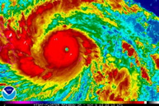 Typhoon Haiyan is pictured in this satellite image
