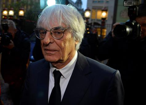 Formula One Chief Executive Bernie Ecclestone at the High Court in central London