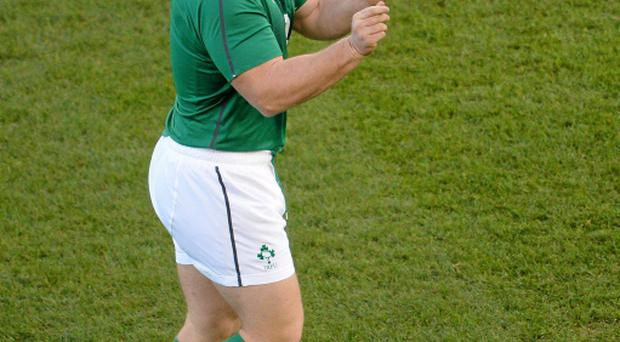 Ireland's Jack McGrath during the captain's run ahead of their Guinness Series International match against Samoa tomorrow