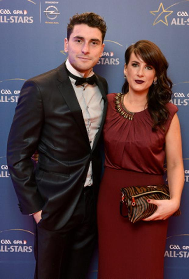 Dublin footballer Bernard Brogan and Keira Doyle