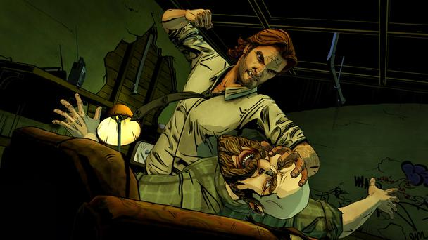 Bigby and The Woodsman in The Wolf Among Us videogame