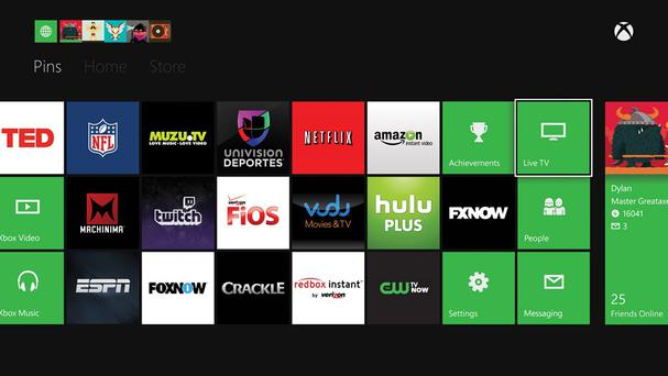 This is the US version of the Xbox Dashboard, which has access to many more entertainment apps than in Ireland